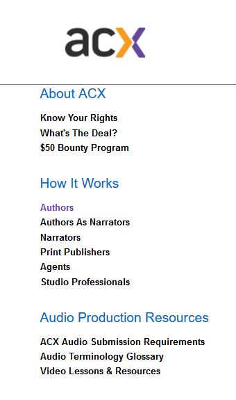 ACX information bar left side